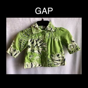 Little Girls Gap Green Size 3T Pea Coat